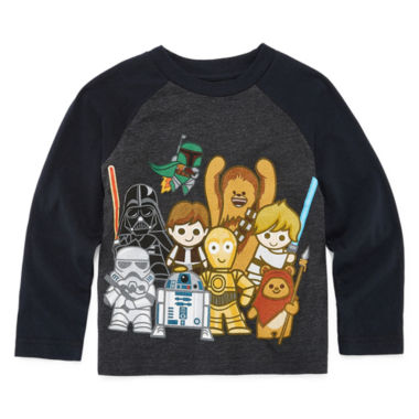 Long Sleeve Star Wars T-Shirt-Toddler Boys