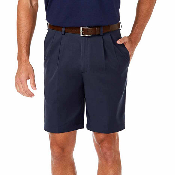 Haggar Cool 18 PRO Classic Fit Pleated Shorts