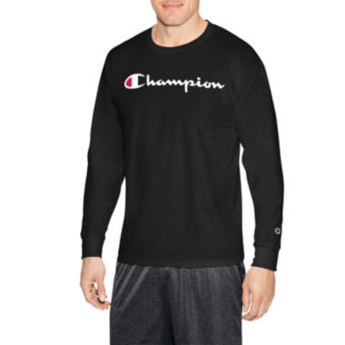 Champion Graphic Jersey Long Sleeve Crew Neck T-Shirt-Athletic