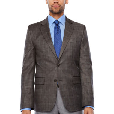 Stafford Classic Fit Woven Plaid Sport Coat - Big and Tall