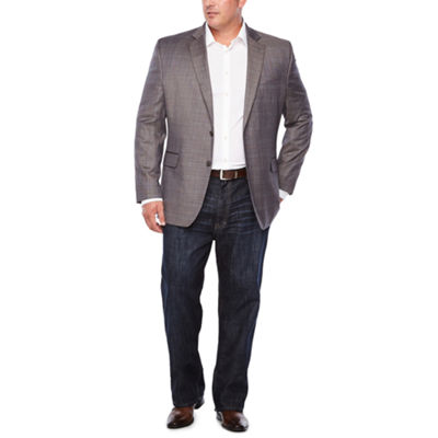Stafford Classic Fit Woven Pattern Sport Coat - Big and Tall