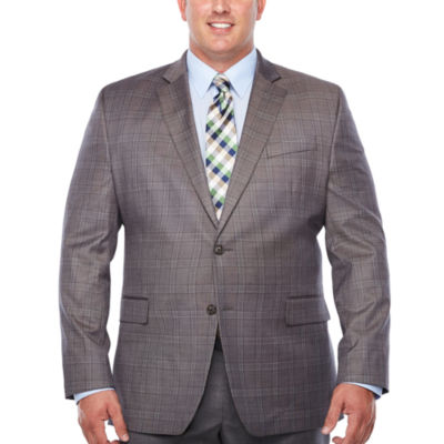 Stafford Classic Fit Woven Pattern Sport Coat - Big and Tall