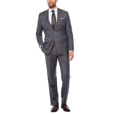 Collection by Michael Strahan Dark Gray Glen Plaid Suit Separates-Classic