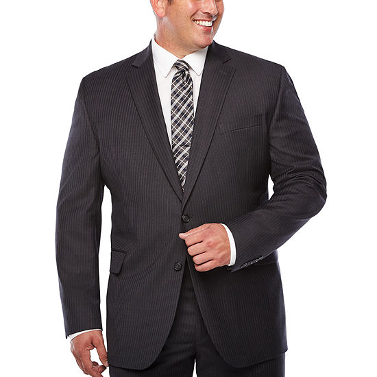 Stafford Striped Classic Fit Suit Jacket-Big and Tall