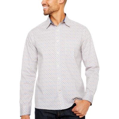 ARGYLECULTURE Long Sleeve Diamond Button-Front Shirt
