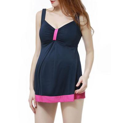 Glow & Grow Maternity UPF 50+ Colorblock One Piece Swimsuit