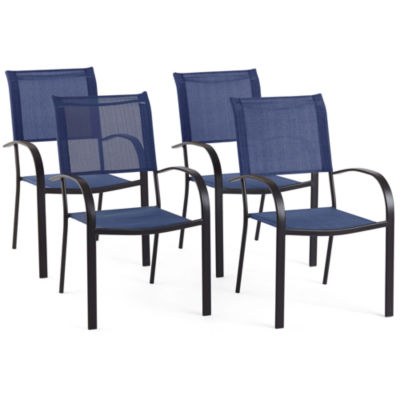 Outdoor Oasis Melbourne 4-pc. Sling Stackable Patio Dining Chair
