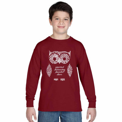Los Angeles Pop Art Owl Graphic T-Shirt Boys