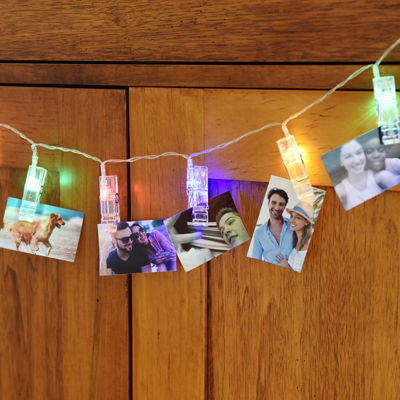 """Polaroid 6.5' LED String Light with 16 Colorful LED Photo Clips for 2x3"""" Photos"""
