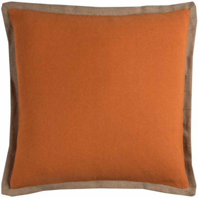 "Rizzy Home Jute Trim Solid Square Throw Pillow - 22"" x 22"""