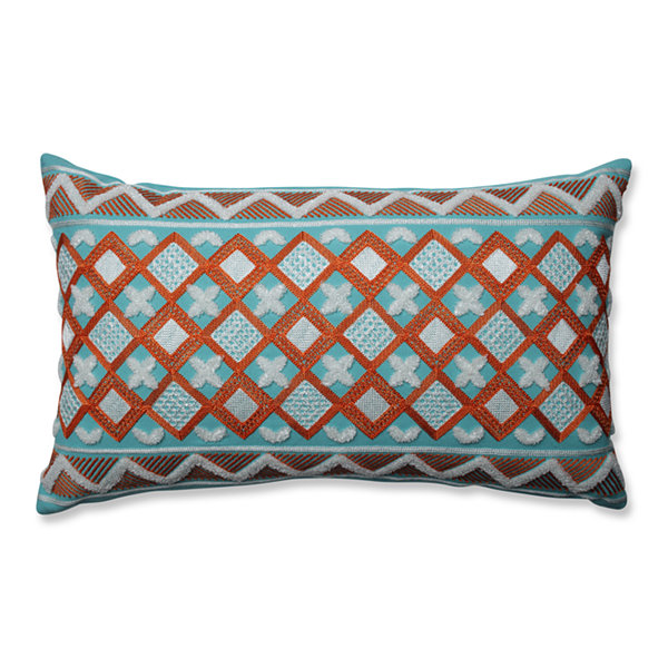 Pillow Perfect Amber Citrus-Belize Rectangular Throw Pillow