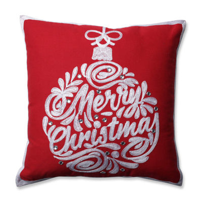 Pillow Perfect Christmas Ball Red 16.5-inch Throw Pillow