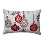 Pillow Perfect Country Home Ornaments Red/White Rectangular Throw Pillow