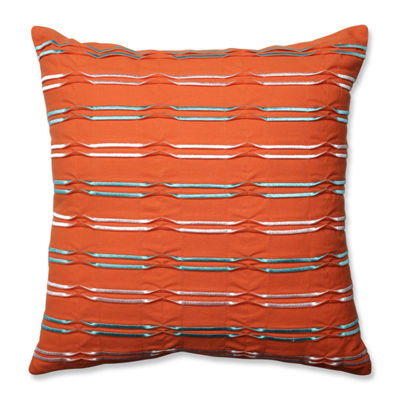 Pillow Perfect Dimensional Lines Citrus 18-inch Throw Pillow