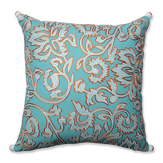 Pillow Perfect Ellie Belize-Citrus 18-inch Throw Pillow
