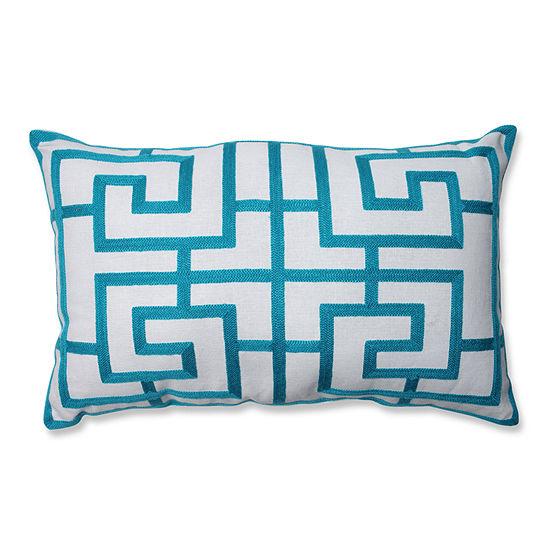 Pillow Perfect Embroidered Geometric Rectangular Throw Pillow