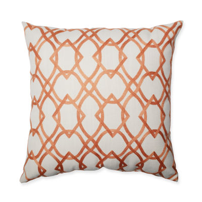Pillow Perfect Forget Me Knots Tangerine Pillow