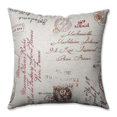 Pillow Perfect French Postale Throw Pillow