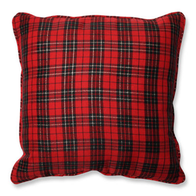 Pillow Perfect Holiday Plaid 16.5-inch Throw Pillow