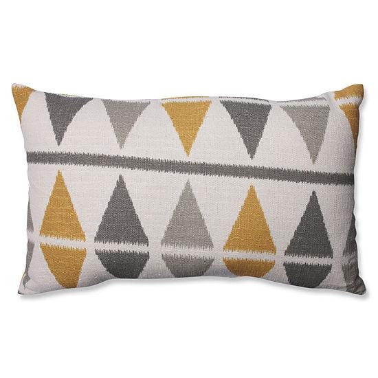 Pillow Perfect Ikat Argyle Birch Pillow