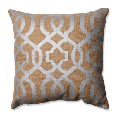 Pillow Perfect Silver Geometric Throw Pillow