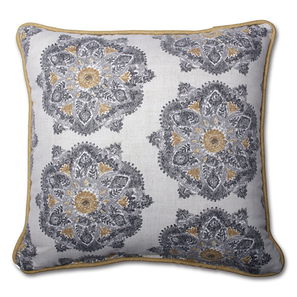 Jcpenney Floor Pillows : Pillow Perfect Suri Medallion Greystone Pillow - JCPenney