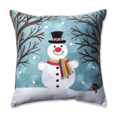 Pillow Perfect Winter Wonderland Frost 16.5-inch Throw Pillow