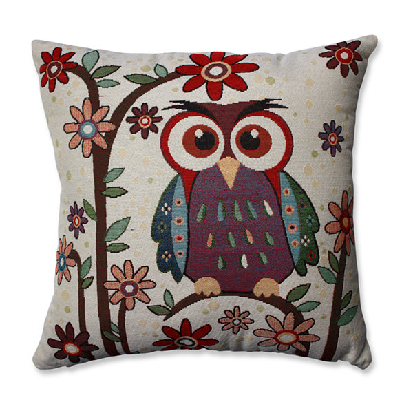 Pillow Perfect Owl Hoot Multi 16.5-inch Throw Pillow