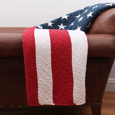 Thro by Marlo Lorenz American Flag Quilted Throw
