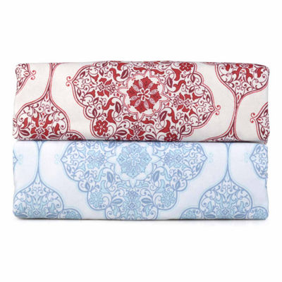 Journee Home 4 pc Microfiber Damask Sheet Set