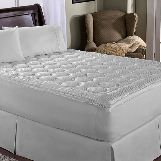 Perfect Fit Luxury Stripe Quilted Mattress Pad