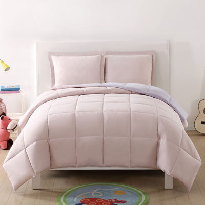 My World Solid Reversible Comforter Set
