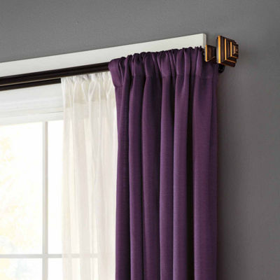 "Eclipse Stacey Room Darkening Double Window Curtain Rod 3/4"" Diameter"