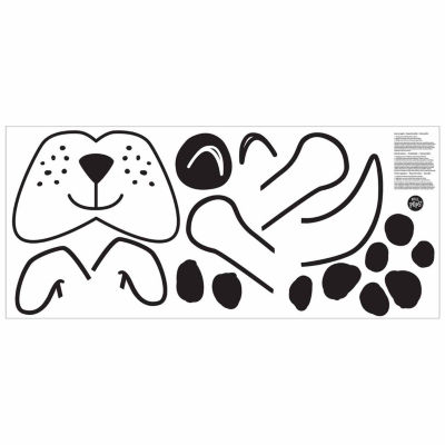 Brewster Wall Bruno The Dog Door Decal Wall Decal