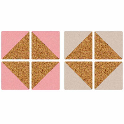 Brewster Wall Pink And Taupe Square Cork Organizer Sha Wall Decal