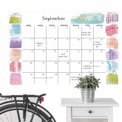Brewster Wall Splash Academic 2017-18 Calendar Message Board