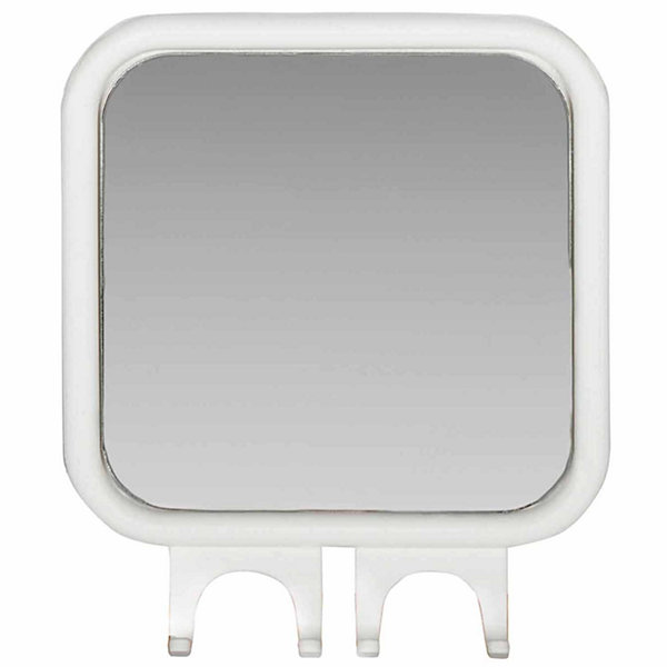 Kenney Fogless Shower Mirror with Dual Razor Hooks