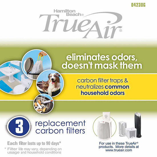 True Air Replacement Carbon Filter 3 Pack