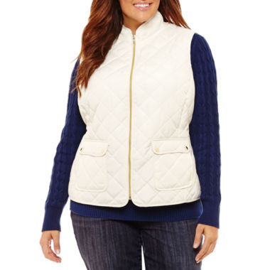 St. John's Bay Quilted Vest-Plus