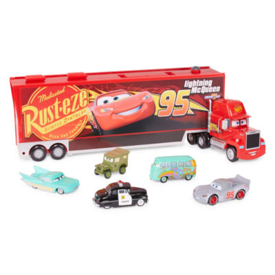 Disney Collection Cars Mack Carrier and Die Cast Cars