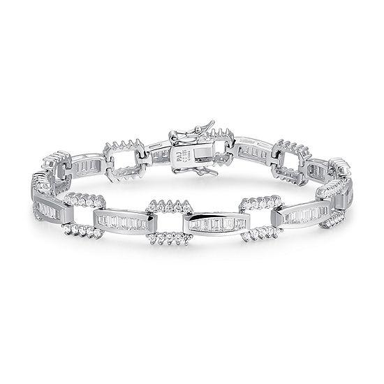 Sterling Silver 7 Inch Solid Square Link Bracelet