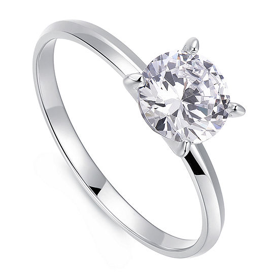 1 1/4 CT. T.W. Cubic Zirconia Platinum Over Silver Round Solitaire Engagement Ring