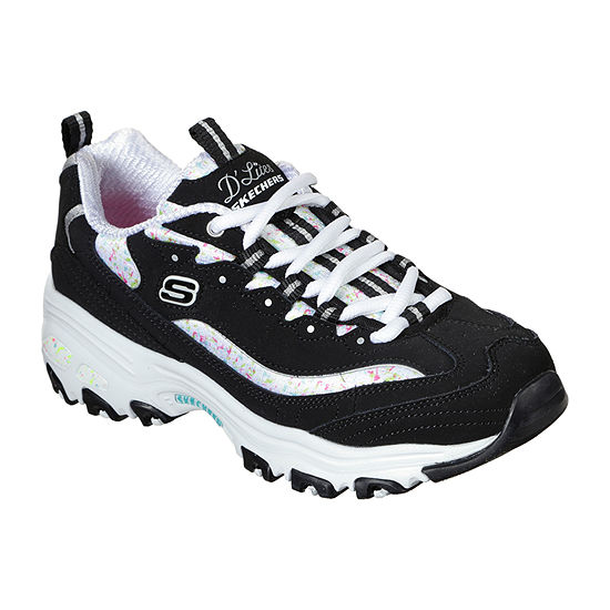 Skechers D'Lites- Dazzling Canvas Womens Sneakers