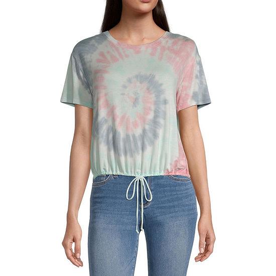 Self Esteem Juniors Womens Crew Neck Short Sleeve T-Shirt