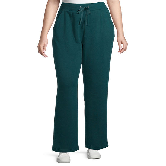St. John's Bay Womens Mid Rise Straight Drawstring Pants - Plus