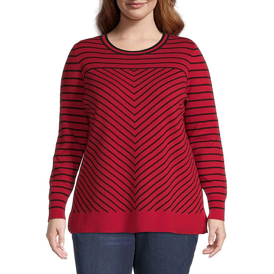 Liz Claiborne Chevron Sweater - Plus