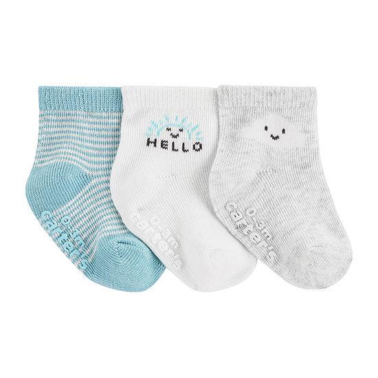 Carter's Baby Unisex 3 Pair Crew Socks