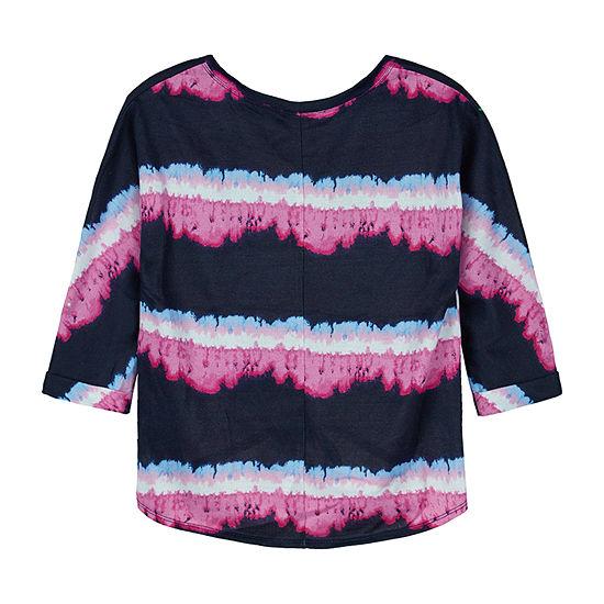 by&by girl Big Girls Crew Neck 3/4 Sleeve Sweatshirt