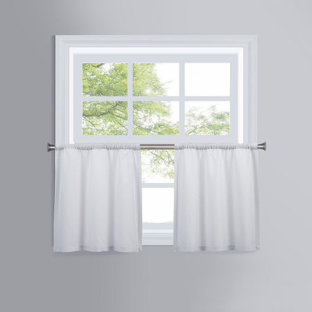 JCPenney Verona Rod-Pocket Window Tiers, One Size , White
