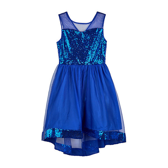 Amy Byer Big Girls Sleeveless High-Low Party Dress